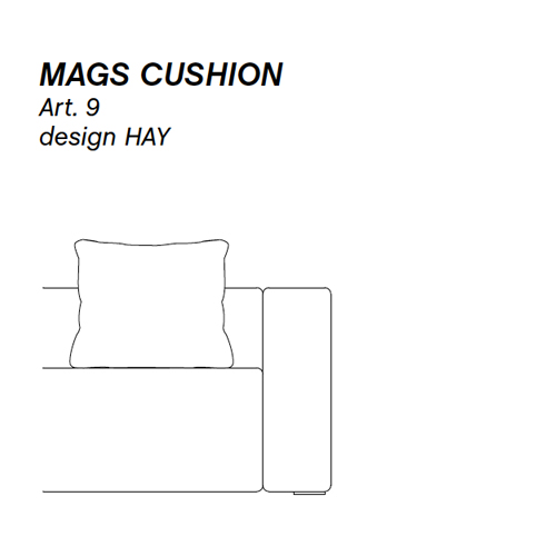HAY bank Mags Cushion 09