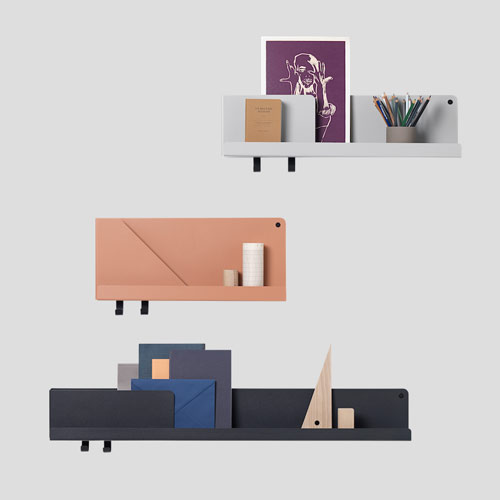 Muuto Folded Shelf Medium Black 63cm
