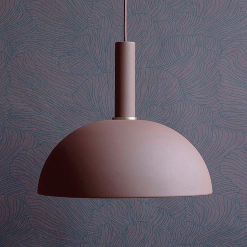 Ferm Living Dome Shade Red Brown