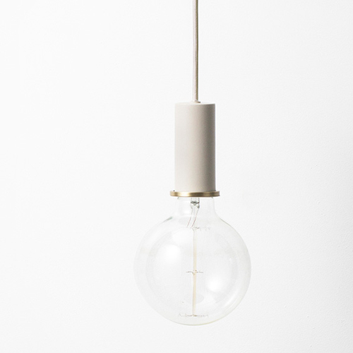 Ferm Living Socket Pendant Low Light Grey