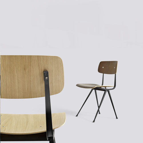 HAY Result Chair Beige Clear lacquer