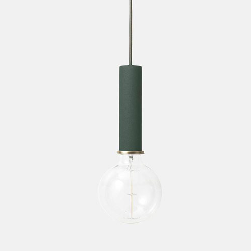 Ferm Living Socket Pendant High Dark Green