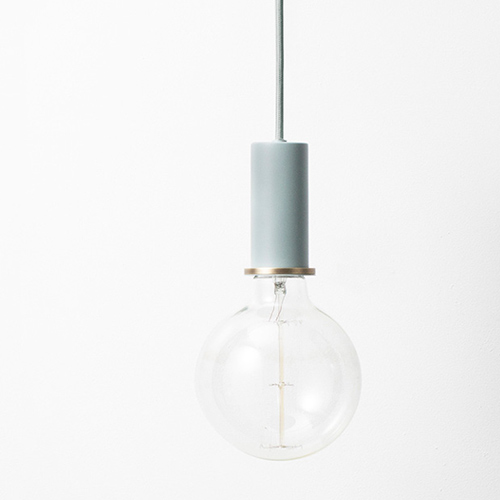 Ferm Living Socket Pendant Low Dusty Blue