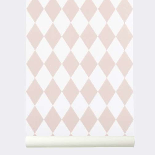 Ferm Living Behang Harlequin Rose