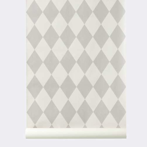 Ferm Living Behang Harlequin Grey