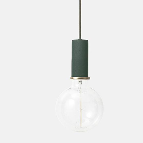 Ferm Living Socket Pendant Low Dark Green