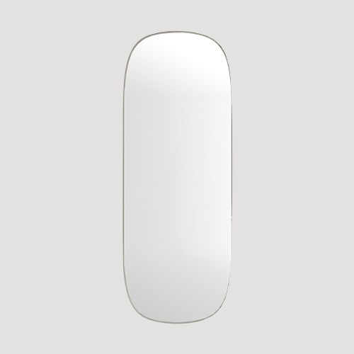 Muuto Framed mirror large - Spiegel Grey / Clear