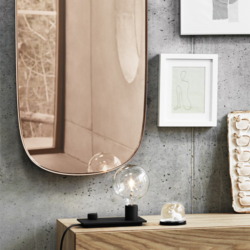 Muuto Framed mirror small - Spiegel Grey / Clear