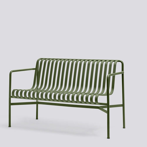 HAY Palissade Dining Bench Olive