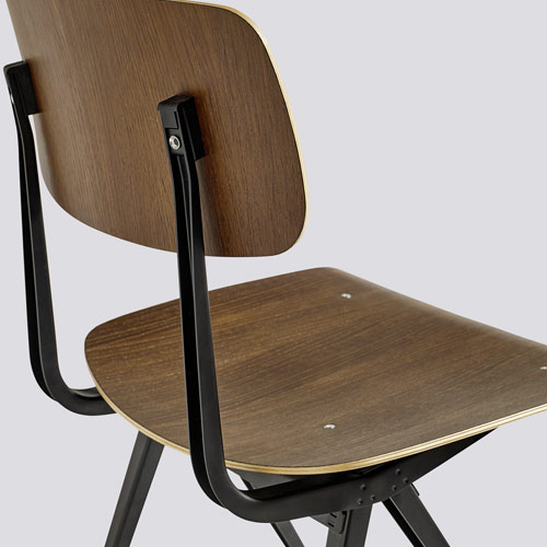 HAY Result Chair Black Black lacquer