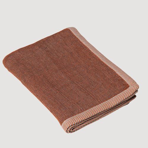 Muuto Ripple Throw Brown 115x180