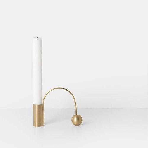Ferm Living Balance Candleholder Brass