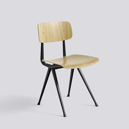HAY Result Chair Black Matt lacquer