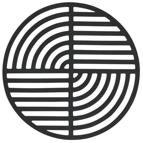 Trivet black circle