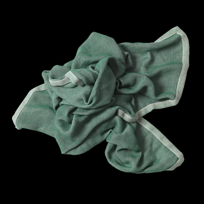 Muuto Ripple Throw green 115x180