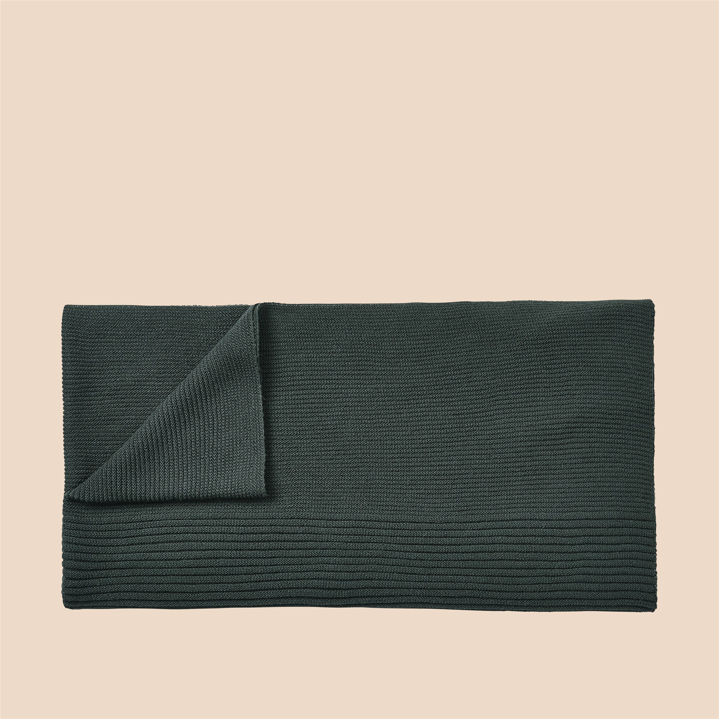 Muuto Rhythm Throw dark green