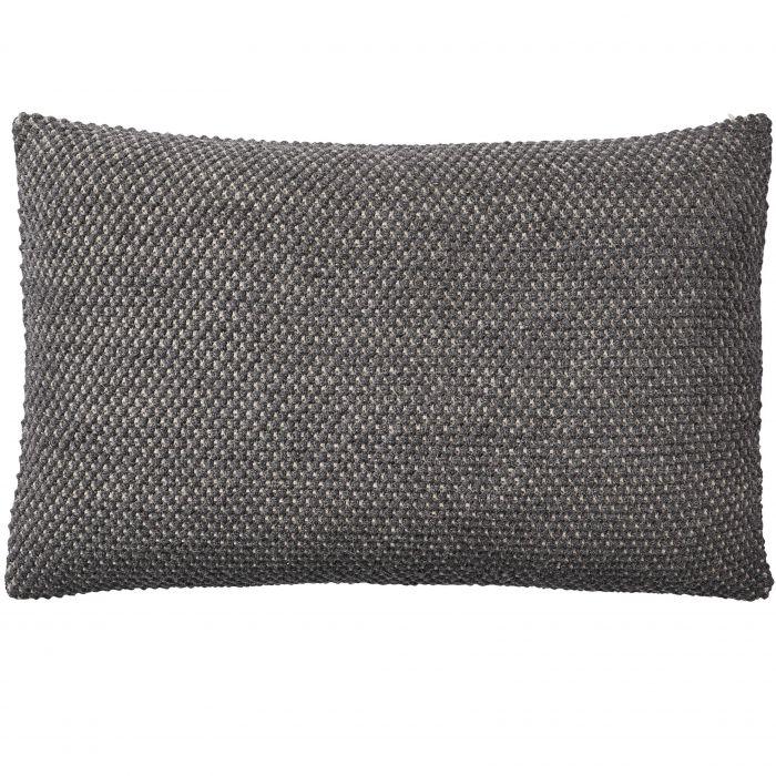 Twine cushion 80x50 dark grey