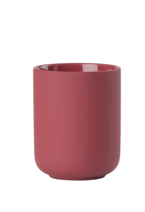 Toothbrush mug maroon red ume