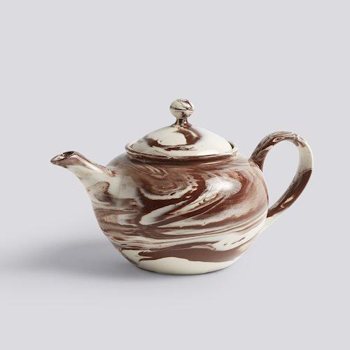 HAY Marbled teapot Brown