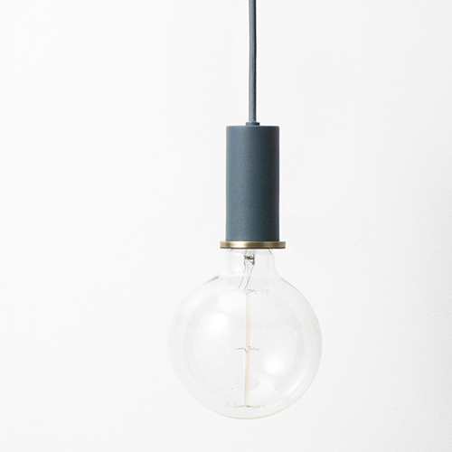 Ferm Living Socket Pendant Low Dark Blue