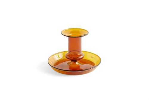 Hay Flare Candle Holder Amber