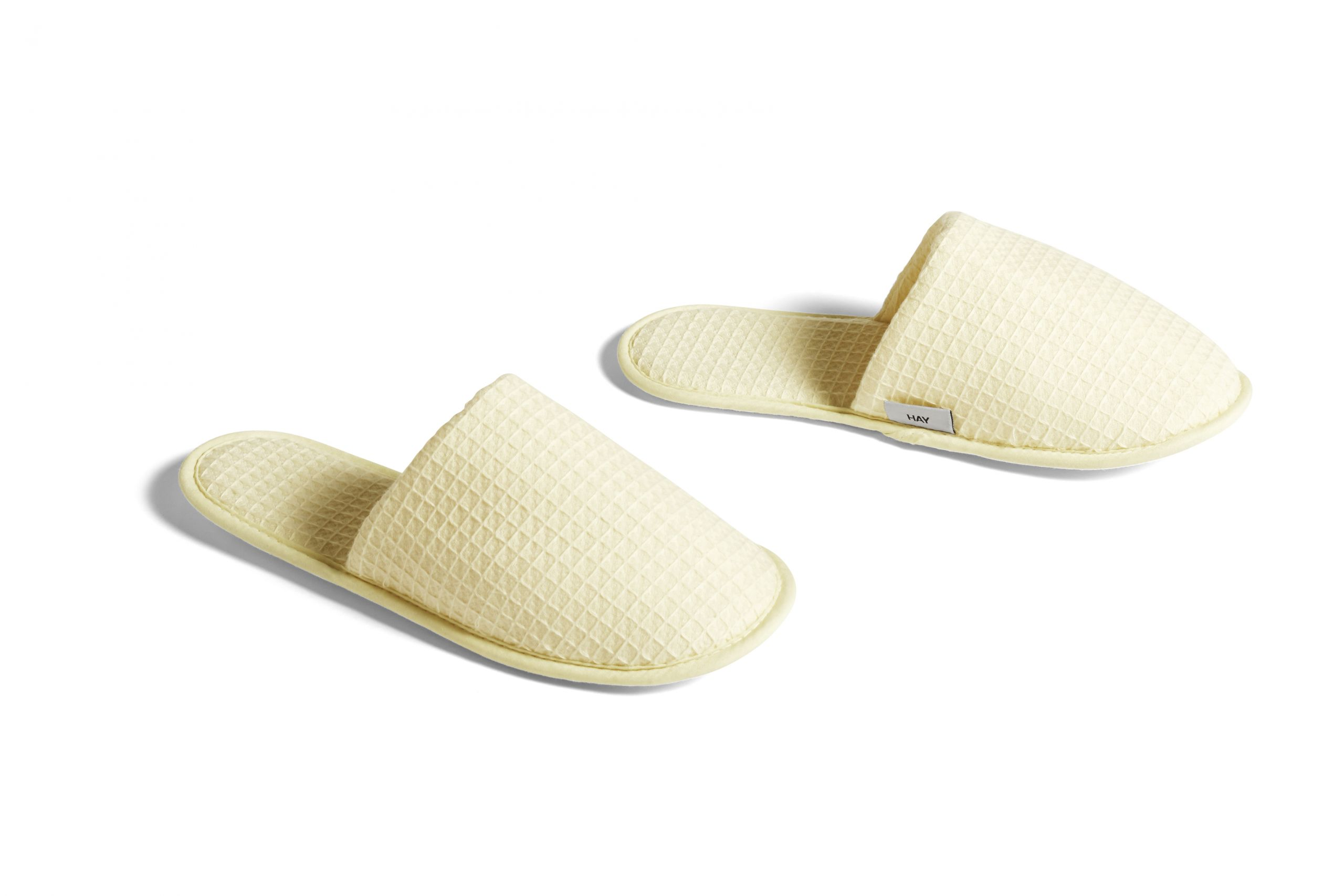Waffle slippers one size soft yellow