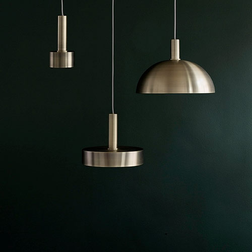 Ferm Living Socket Pendant High Brass