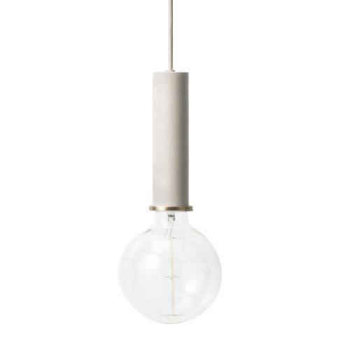 Ferm Living Socket Pendant High Light Grey