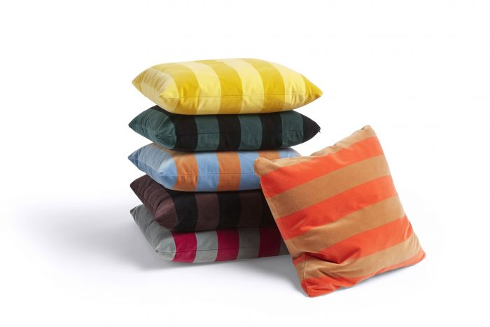 HAY Soft Stripe cushion 50x50 Hunter