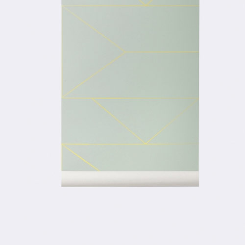 Ferm Living Behang Lines Mint 170
