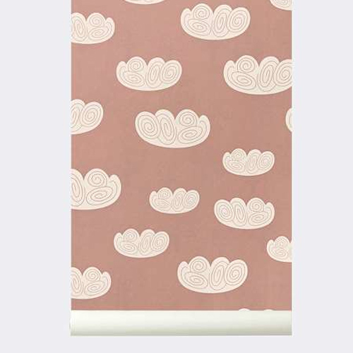 Ferm Living Behang Cloud Rose