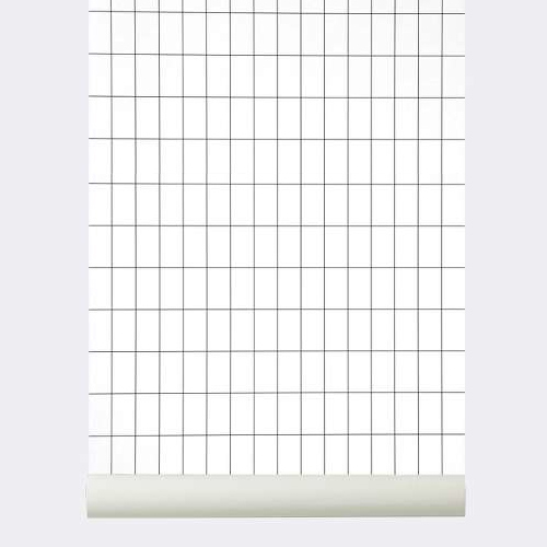 Ferm Living Behang Grid White