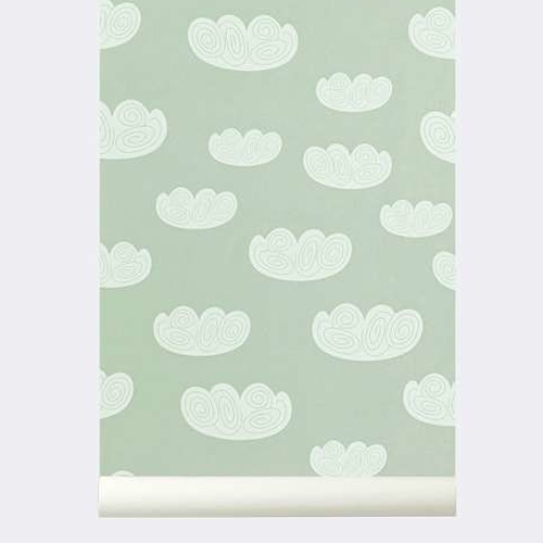 Ferm Living Behang Cloud Mint
