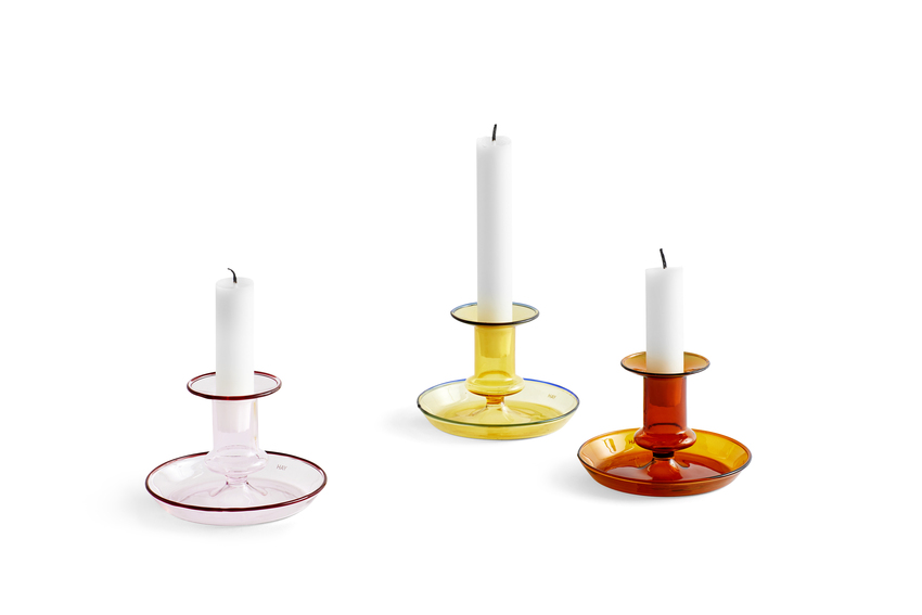 Hay Flare Candle Holder Yellow