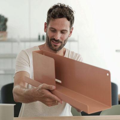 Muuto Folded Shelf Large Grey 96cm