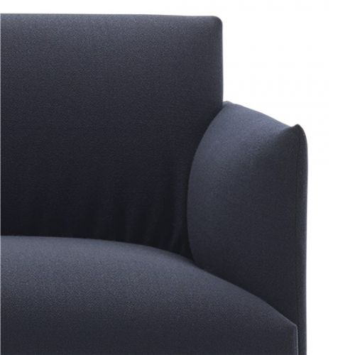 Muuto Outline Sofa 2 seater vidar 554 - Black Base