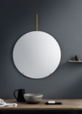 wall mirror black 50cm
