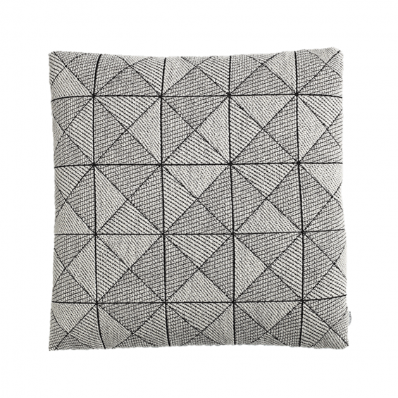 Tile cushion black/white 50x50 cm