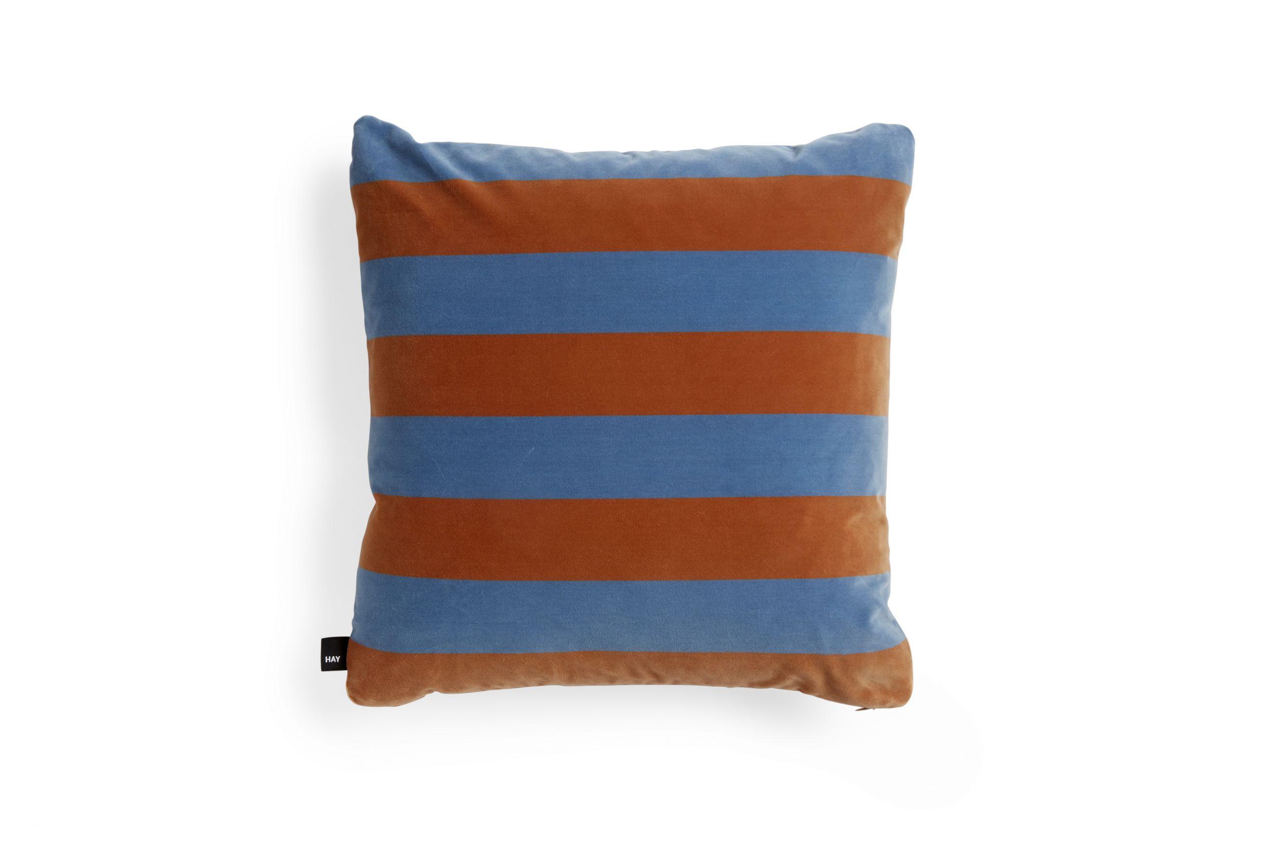 HAY Soft Stripe cushion 50x50 Softblue