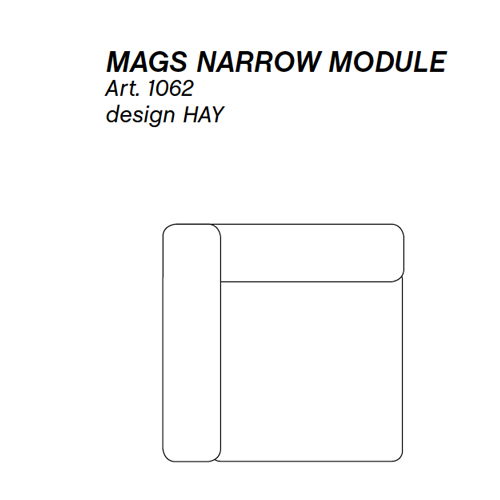 HAY bank Mags Narrow Module 1062