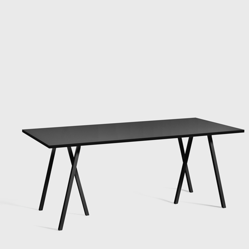 HAY Loop Stand Table black 180 cm