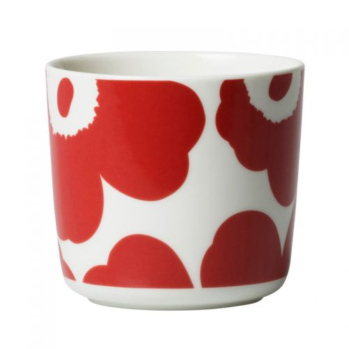 Oiva/Unikko coffee cup 2dl white/red