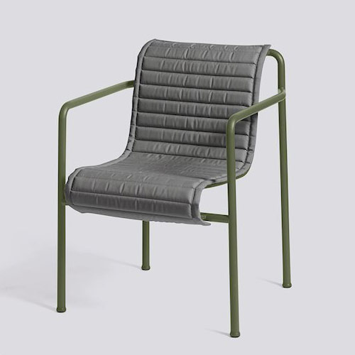HAY Palissade Quilted Cushion Arm Chair Anthracite