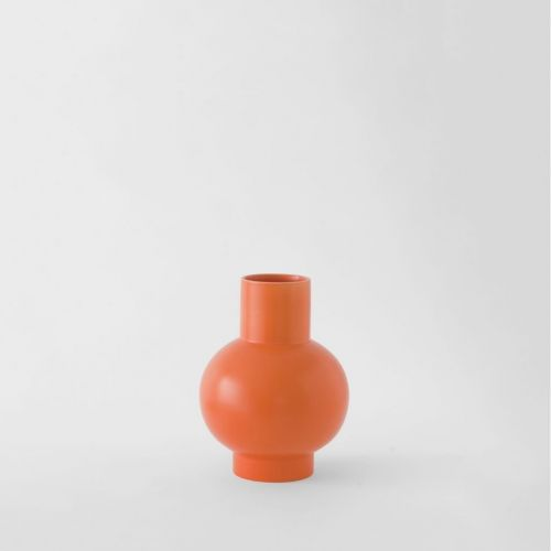 Raawii Small Vase Strøm Vibrant Orange