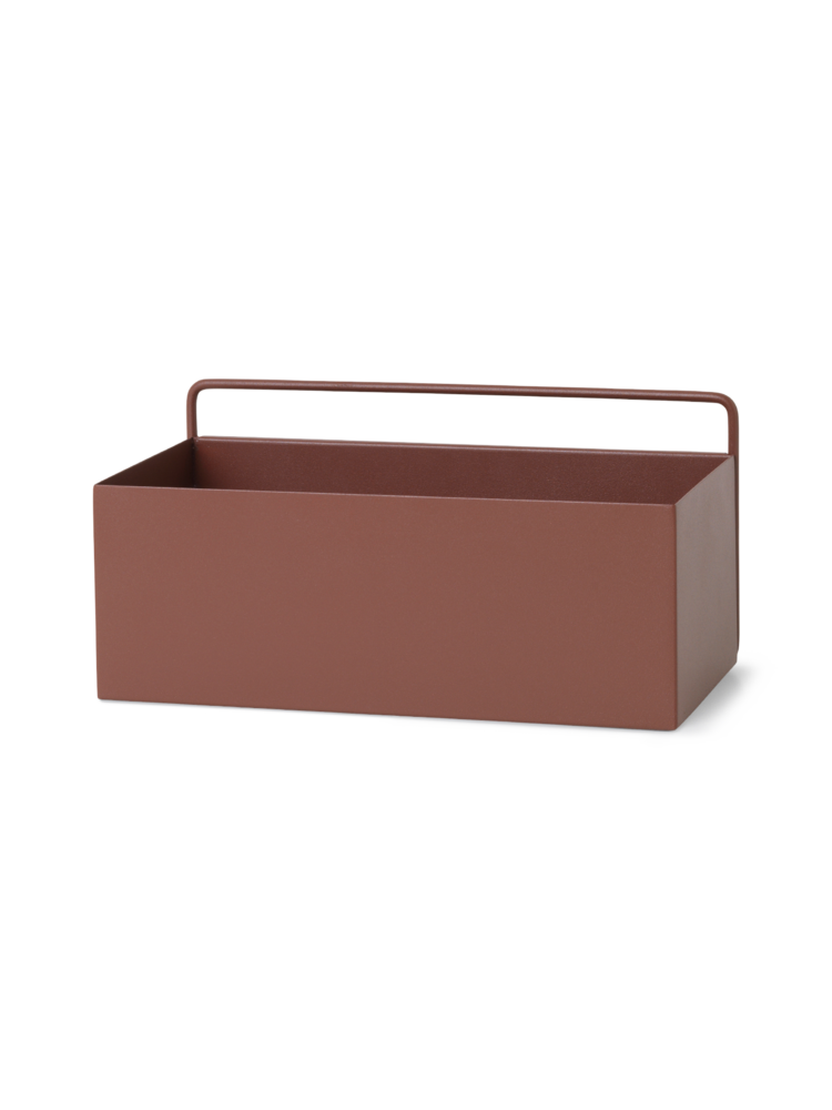 Wall box rectangle red brown