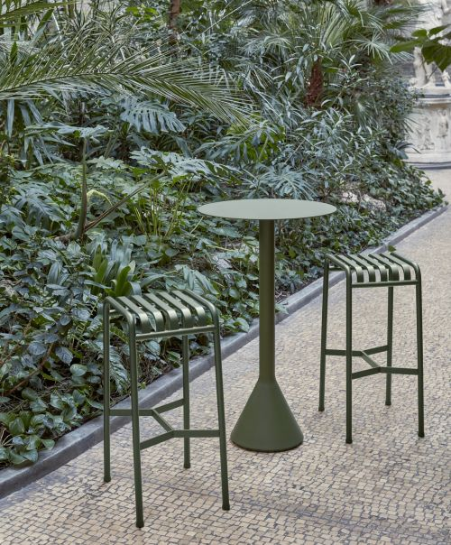 Hay Palissade Cone Table 60 105 Olive