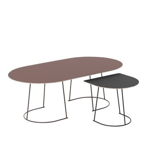 Muuto Airy Coffee Table Half Size Plum