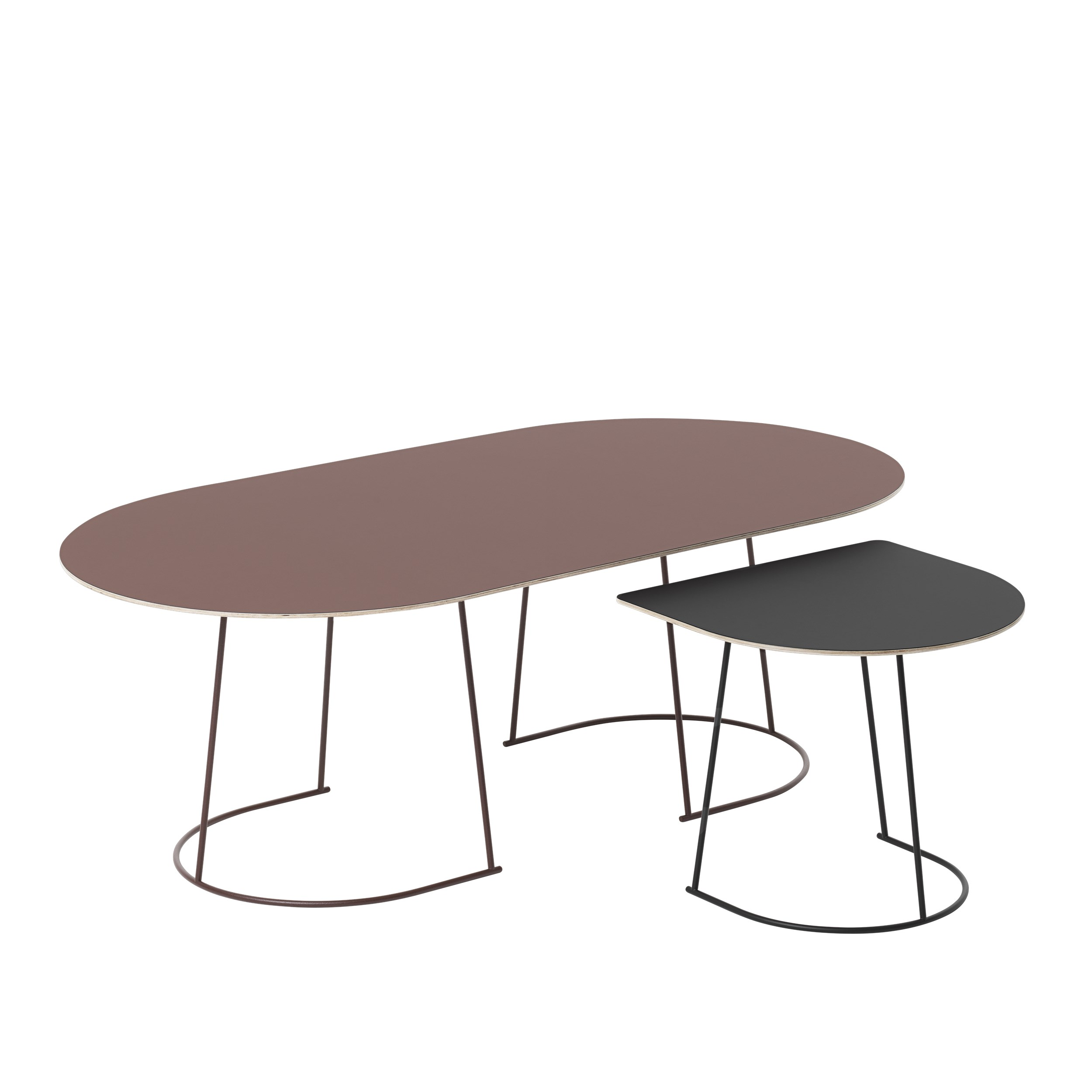 Muuto Airy Coffee Table Medium Plum