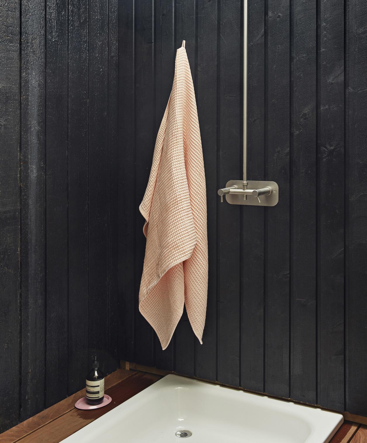 Hay Giant Waffle Bath Towel Grey