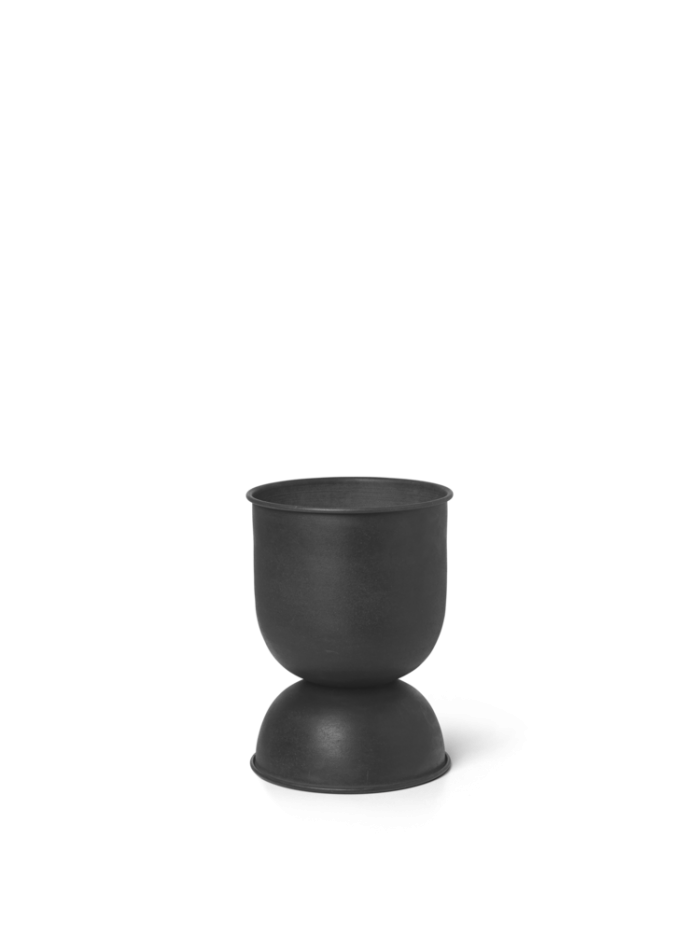 Hourglass pot extra small black